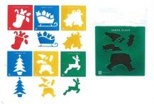 STENCIL JUMBO - CHRISTMAS SET OF 6