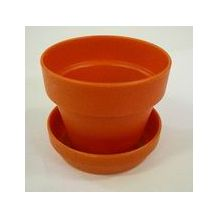 PLANT POT/SAUCER 10/BAG TERRA COTTA