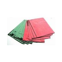 CELLO SHEETS (PACK 10) RED/GREEN