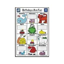 "CHART:- ""BIRTHDAYS ARE FUN"" POSTER"
