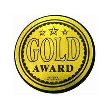 SLICKER STICKER:- GOLD AWARD