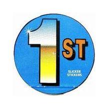 """SLICKER STICKER:- """"1st"""""""