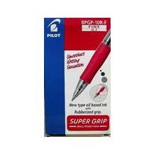 PEN RET. S/GRIP BPGP-10F FINE RED