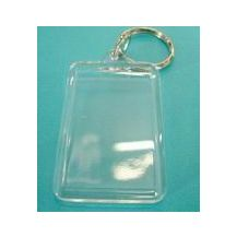 KEY TAGS CLEAR RECTANGLE 50mm PKT 10