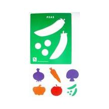 STENCIL - VEGETABLE set of 6