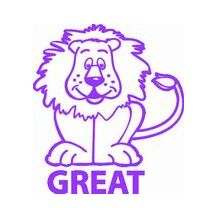 MERIT STAMP S/INK - 1203 GREAT LION