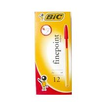 PEN BIC FINE RED PKT 12