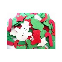 FOAM CHRISTMAS GLITTER SHAPES 100G