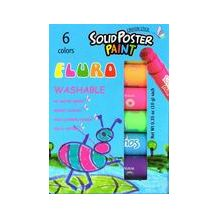 POSTER PAINT CRAYONS STICKS '6 FLURO