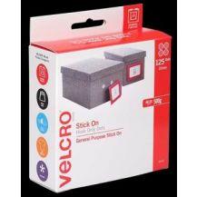 VELCRO®  BRAND SPOT - HOOK ONLY - WHITE