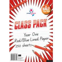RULED PAPER A4 - HALF PAGE YEAR 1