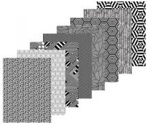 PATTERN PAPER - CONTRAST PACK OF 40