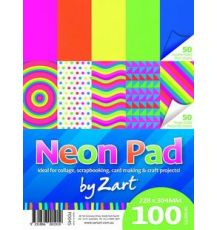 NEON PAD PLAIN AND PATTERN 100 SHEETS